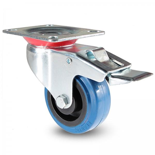Transportrollen Blue Wheels Schwerlastrollen Lenkrolle Bremse Bockrolle blaue