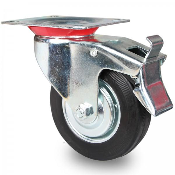 Transportrollen Bockrollen Lenkrollen mit Bremse 75 100 125 160 200 mm