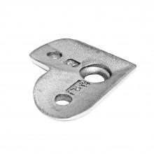 Handlaufträgerplatte / handlaufplatte (Edelstahl V2A, 90° Anschluss: Ø 42,4mm )