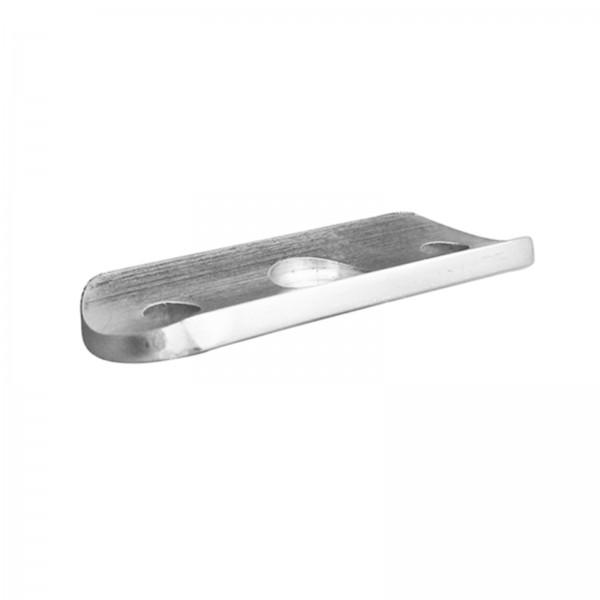 Handlaufträgerplatte / Handlaufplatte (Edelstahl V2A, Anschluss : Ø42,4mm)