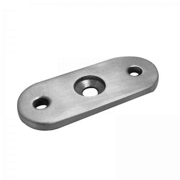 Handlaufträgerplatte / handlaufplatte (Edelstahl V2A, Anschluss Flach)