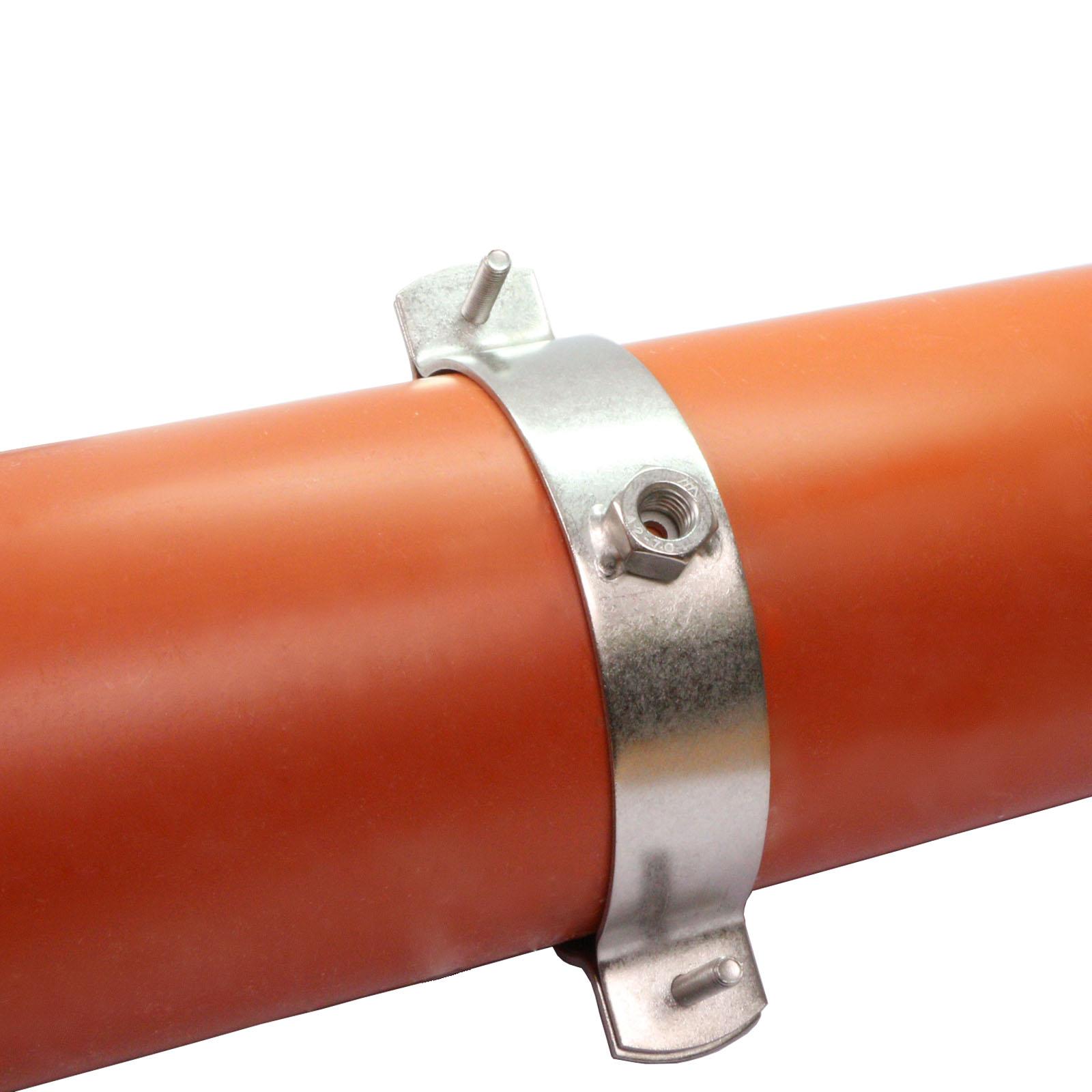 Edelstahl Rohrschellen V2A f 1 St/ück, 25-31mm, 3//4 Stockschrauben Rohrhalter Rohrbefestigung Rohr