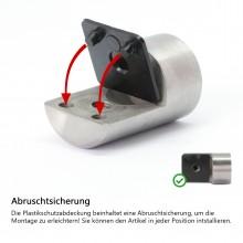 Blechhalter / Lochblechhalter ( Edelstahl V2A, Anschluss: Ø33,7mm )