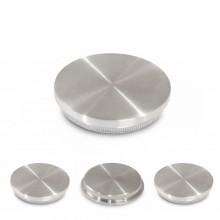 Rohrstopfen / Endkappe Edelstahl V2A ( Flach Vollmaterial Ø42,4mm )