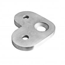 Handlaufträgerplatte / handlaufplatte (Edelstahl V2A, 90° Anschluss Flach)