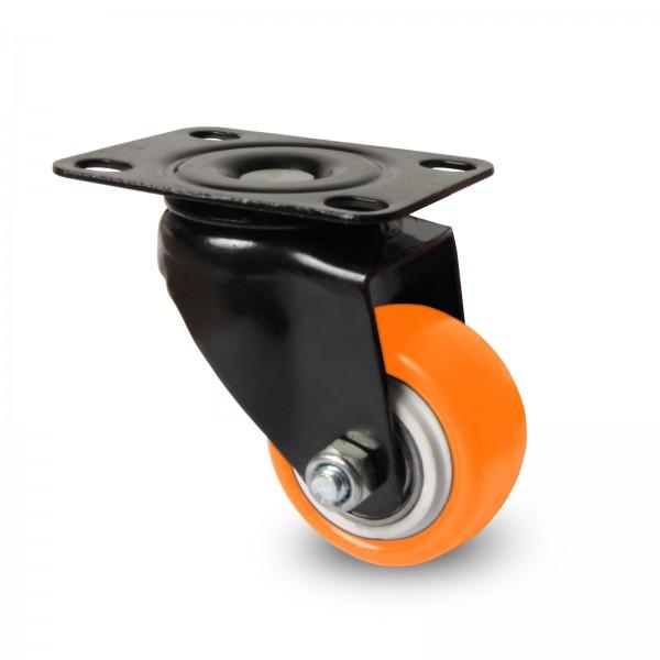Möbelrollen / Schrankrollen mit Hebelbremse (Farbauswahl, Ø 40 mm)