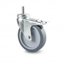 Transportrolle mit Rückenloch - inkl. M10 x 25mm Schraube | Möbelrolle Apparaterolle Lenkrolle Laufr