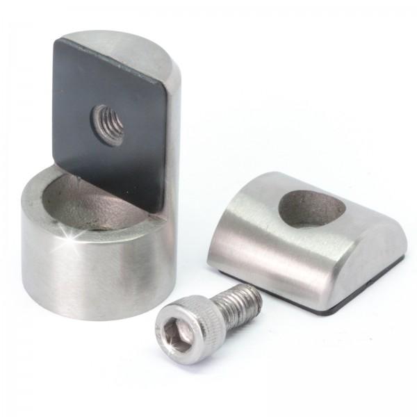 Blechhalter / Lochblechhalter ( Edelstahl V2A, Anschluss: Ø42,4mm )